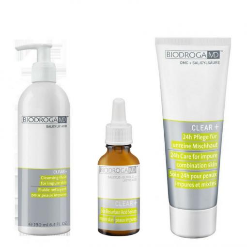 Biodroga MD Home Maintenance Kit (Acne-Impure-Oily Skin)